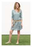 Womens Gathered Tunic In Garden Bouquet