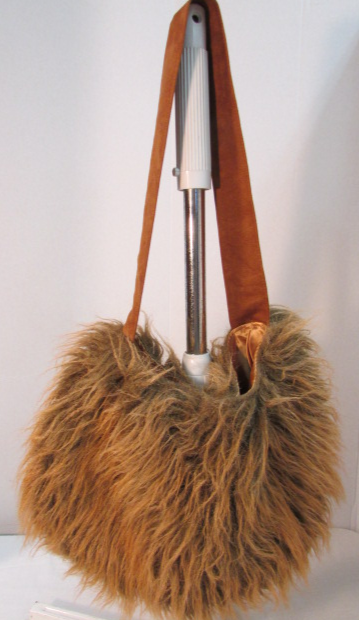 Atenti Brown Fake Fur Large Carryall Bag