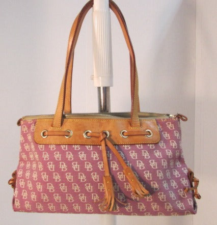 Dooney & Bourke Satchel Canvas Tassel Handbag