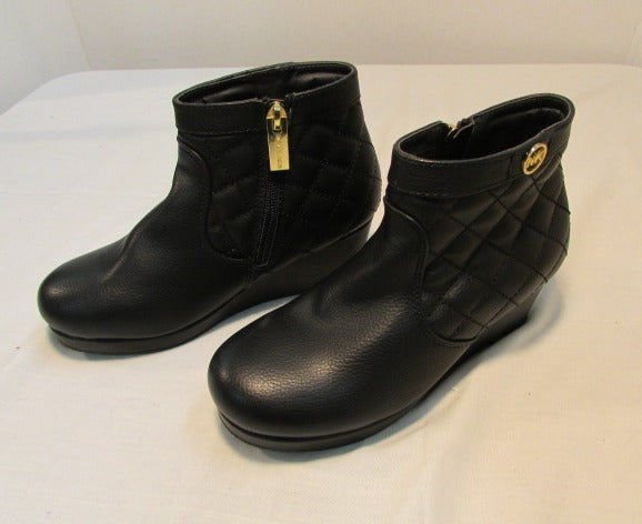 Michael Kors Girls Black Wedge Booties