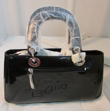 Beijo Patent Leather Black Satchel - NWT
