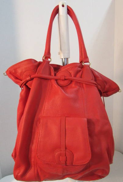 Isaac Mizrahi Live! Red Leather Tote