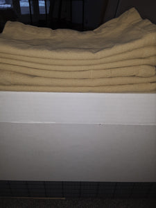 New - Set of 6 Gold Table Linen Napkins