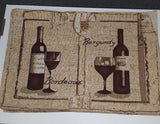 New Set of 4 Cloth Wine Table Place-Mats