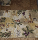 New - Set of 6 Reinforced Cloth Table Place-Mats