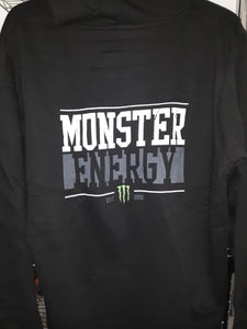 Women's New Black Monster Statement Zipper Hoodie