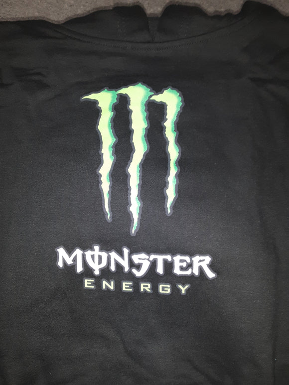 Women's New Black Monster GS Logo Pullover