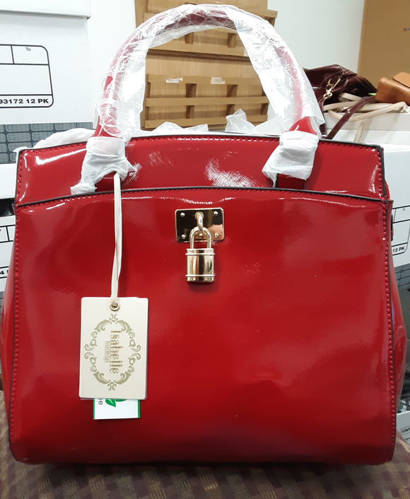 Isabelle Red Lead Free Vegan Leather Satchel - NWT