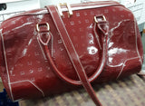 Arcadia Red Genuine Patent Leather Satchel