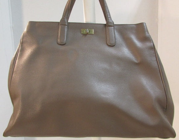 Varriale Large Italian Cross-grain Leather Tote