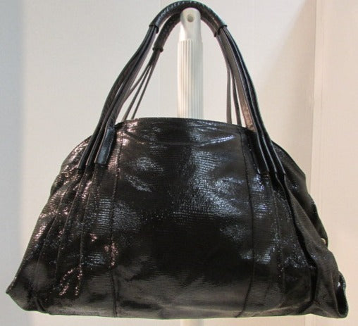 Amalfi by Rangoni Black Leather Shoulder Bag