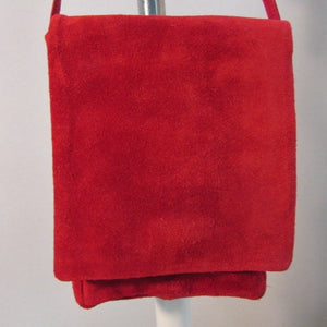 Designer J Julia Duren Red Suede Crossbody