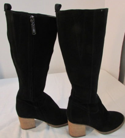 Blondo Nicola Tall Black Waterproof Suede Women's Boots