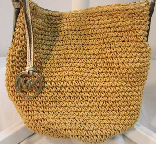 Michael Kors Woven Straw Shoulder Bag