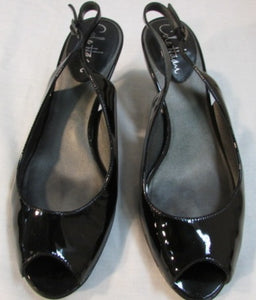 Cole Haan Nike Air Clair OT Sling Back Black Patent Pump