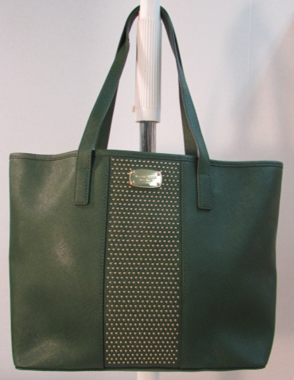 Michael Kors Large Saffiano Green Leather Tote