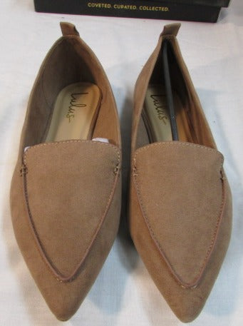 Lulus Emmy Camel Suede Pointed Toes Flat Shoes