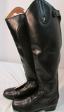 Justin Black Leather Western Boots