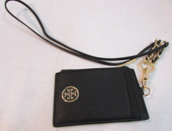Tory Burch Black Coated Leather Card Case
