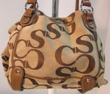 Sophia Caperelli Signature Canvas Shoulder Bag