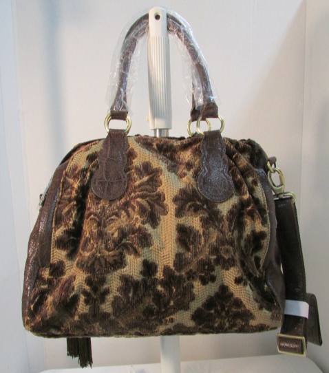 Original by Sharif Large Browns and Tans Carpet Satchel Bag