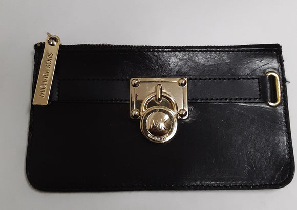 Michael Kors Black Leather Belt Wallet