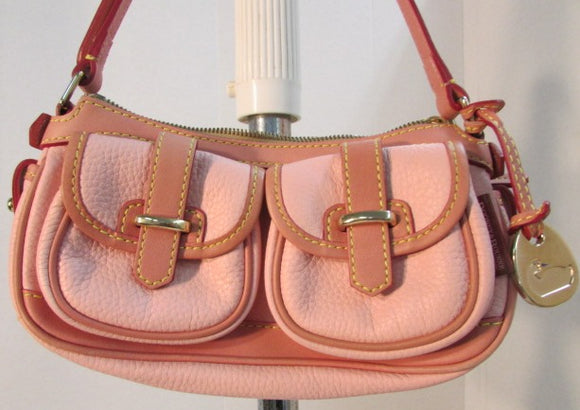 Dooney and Bourke Pink Pebbled Leather Small Purse