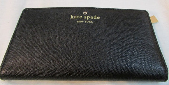 Kate Spade Cherry Lane Black Coated Leather Wallet