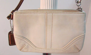 Coach Wristlet Off-White Leather