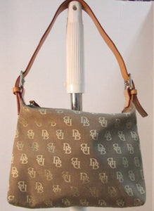 Dooney & Bourke Brown Canvas Signature Shoulder Bag