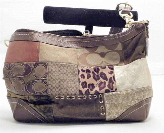 Coach Multi Color Fabric Patchwork Shoulder Purse