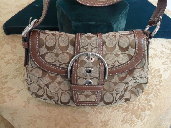 Coach Brown Soho Signature Canvas and Leather Shoulder Bag