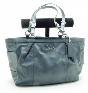 Coach Teal Gallery Signature Leather Tote