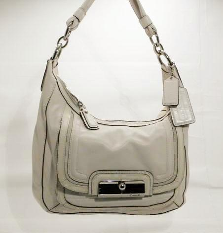 Coach Kristin Cream Ivory Soft Leather Hobo, Shoulder Bag