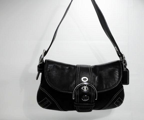 Coach Soho Black Leather Buckle Shoulder Bag