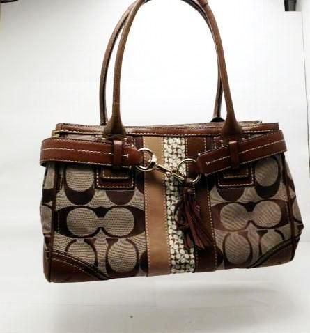 Coach Signature Canvas and Leather Satchel