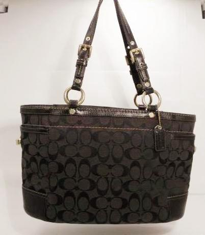 Coach Chocolate Brown Signature Canvas Gallery Tote