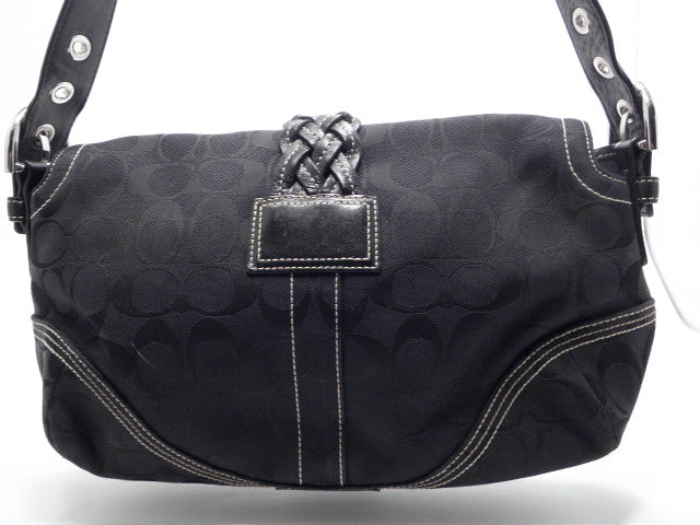449967192824a Coach Signature Black Soho Medium Snap Close Hobo Bag – MA   PAS ...