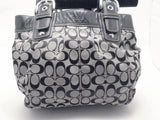 Coach Black on Gray Signature Soho Pleated Handbag Tote