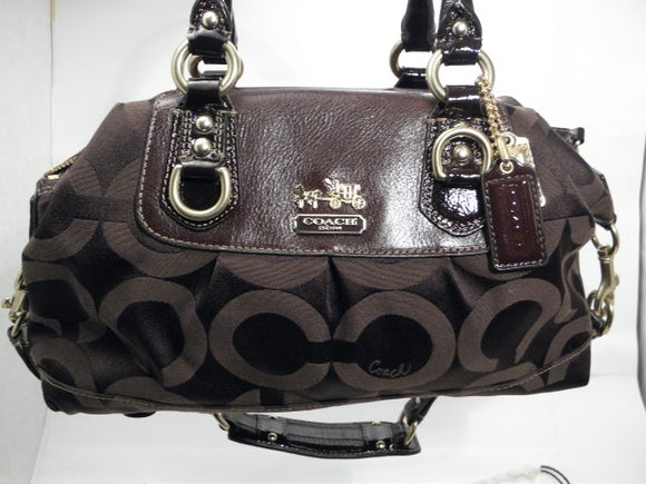 Coach Madison Sabrina Brown Satchel/Handbag with dust cover. Nwot