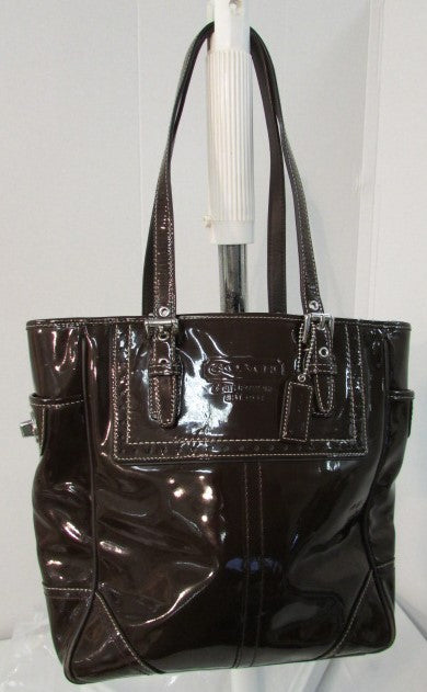 Coach Ashley Brown Patent Leather Tote/Bag