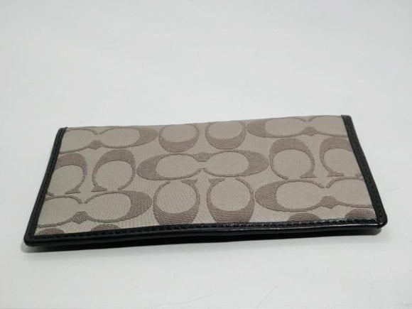 Coach Signature Checkbook Cover
