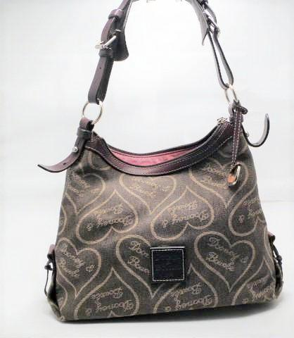 Vintage Dooney and Bourke Brown Hobo Shoulder Bag with adjustable strap