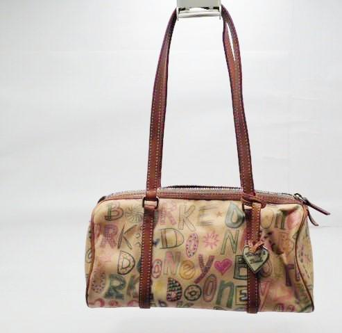 Vintage Dooney and Bourke Logo Handbag Rainbow Multicolor Zipper