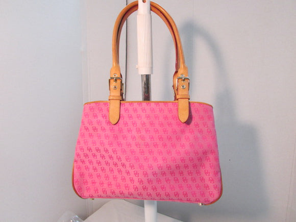 Dooney & Bourke Pink Signature Canvas Satchel