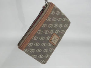 Dooney and Bourke Brown Signature Canvas Wristlet