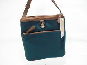 Michael Kors Deep Teal Nylon Kempton Pocket Crossbody