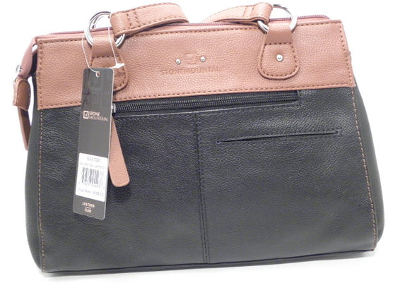 Stone Mountain Bluebell Satchel Black and Tan