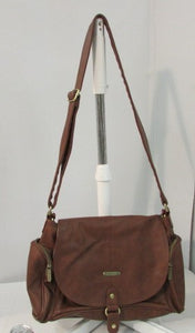 Timi & Leslie Brown Leather Diaper Bag