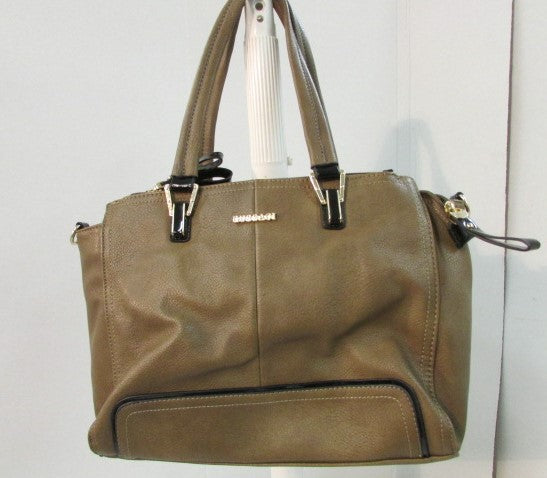 Gussaci Faux Leather Brown Shoulder Bag
